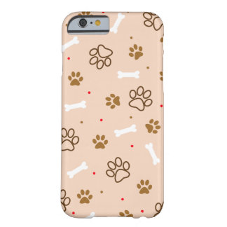 Cute dog pattern with paws bones tiny polka dots barely there iPhone 6 case