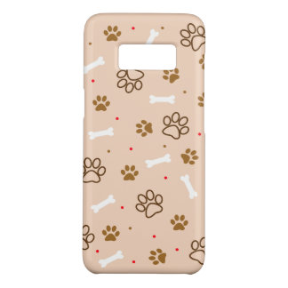 Cute dog pattern with paws bones tiny polka dots Case-Mate samsung galaxy s8 case