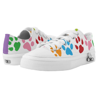 Cute Dog Paw Print Pattern Printed Shoes