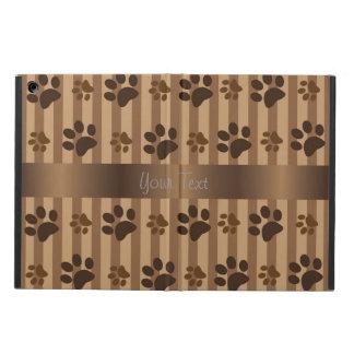 Cute Dog Paw Prints Brown iPad Air Case