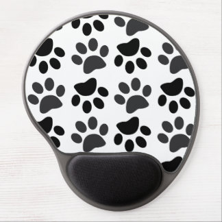 Cute Dog Paw Prints Gel Mousepad