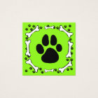 Cute Dog Paws and Bones Pet Service Square Business Card