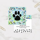 Cute Dog Paws and Bones Pet Service Watercolor Square Business Card