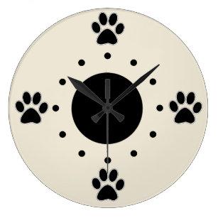dog paws wall clocks zazzle com au
