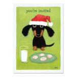 Cute Dog Santa Christmas Invitation