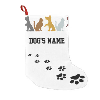 Cute Dog Small Christmas Stocking