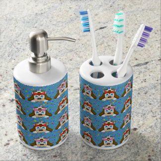 Cute Dog Toothbrush Holder Set
