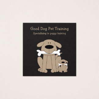 Cute Dog Training Businesscards Square Business Card