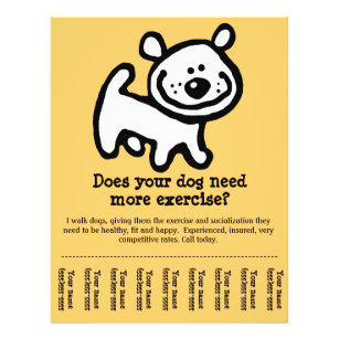 what to put on a dog walking flyer