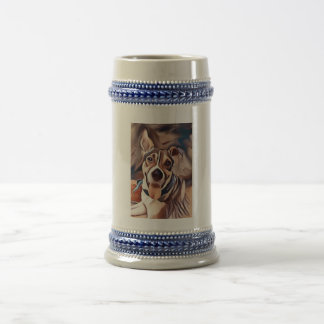 Cute Dog Wearing a Bandana Beer Stein