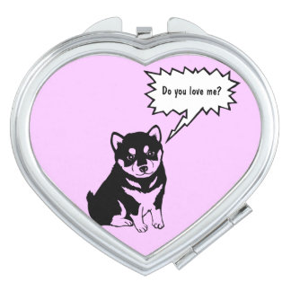 Cute Dog Year Chinese Zodiac Compact mirror