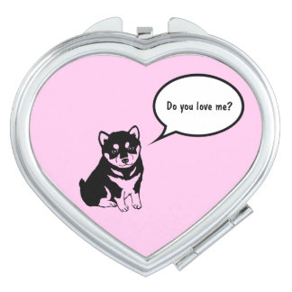 Cute Dog Year Speech Bubble Heart Compact mirror