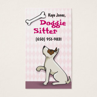 Cute Doggie Business Cards- pink