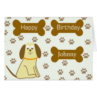Cute Doggie Happy Birthday Card