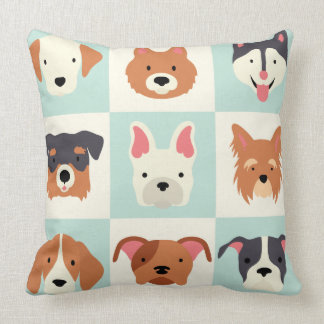 Cute dogs breed pattern cushion