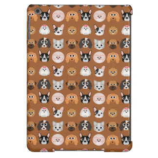 Cute Dogs on Brown Case For iPad Air