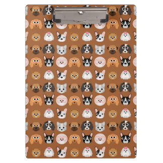 Cute Dogs on Brown Clipboard