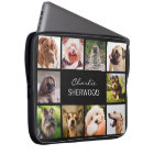 Cute Dogs OR YOUR PHOTOS custom name laptop sleeve
