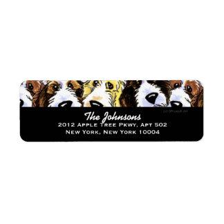 Cute Dogs PBGV Pack Custom Color Return Address Label
