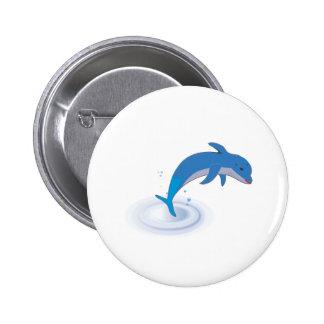 Cute dolphin pinback button