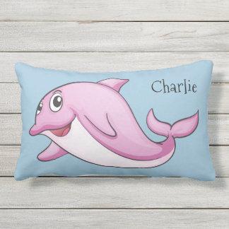 Cute Dolphin custom name throw pillows