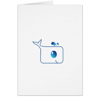 cute dolphin greeting card