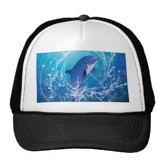 Cute dolphin trucker hat