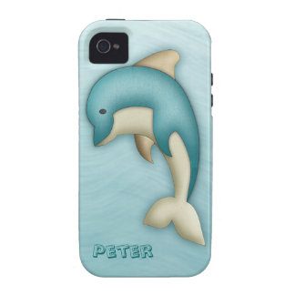 Cute Dolphin Monogram Case-Mate Case Vibe iPhone 4 Covers