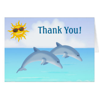Cute Dolphin Ocean Thank You Cards