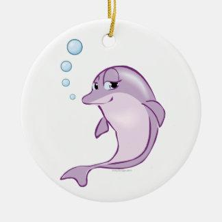 Cute Dolphin Round Ceramic Decoration
