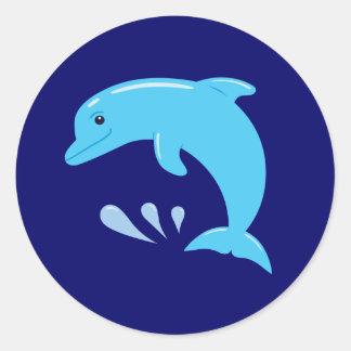 Cute Dolphin Round Sticker