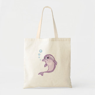 Cute Dolphin Budget Tote Bag