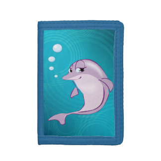 Cute Dolphin Trifold Wallets