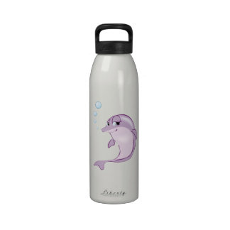 Cute Dolphin Reusable Water Bottle