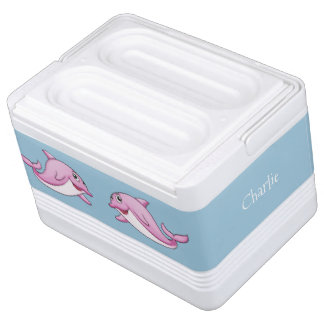 Cute Dolphins custom name cooler