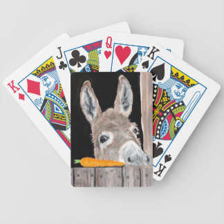 Cute Donkey and a Carrot Bicycle Playing Cards