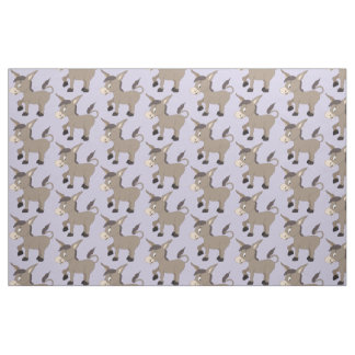 Cute Donkey custom kids' fabric
