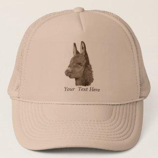 Cute donkey drawing realist animal art trucker hat