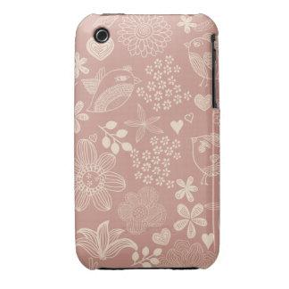 cute doodle birds iphone3 case iPhone 3 Case-Mate case
