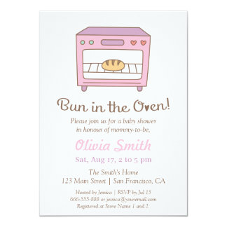 Cute Doodle Bun in the Oven Baby Shower Card