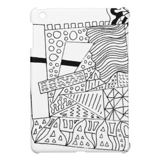 Cute Doodle Creature Case For The iPad Mini