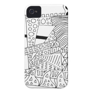 Cute Doodle Creature iPhone 4 Cover