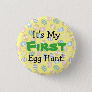 Cute Doodle Easter Eggs 3 Cm Round Badge