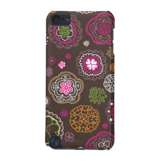 Cute doodle retro flowers heart pattern design iPod touch 5G covers