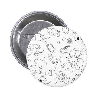 Cute doodle sketch pins