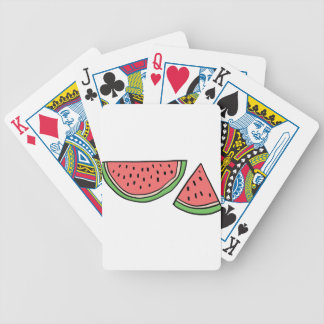 CUTE DOODLE WATERMELON BICYCLE PLAYING CARDS