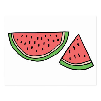 CUTE DOODLE WATERMELON POSTCARD