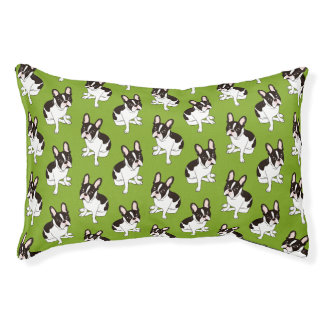 Cute double hooded pied French Bulldog Pet Bed