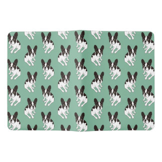 Cute double hooded pied Frenchie is chilling Extra Large Moleskine Notebook
