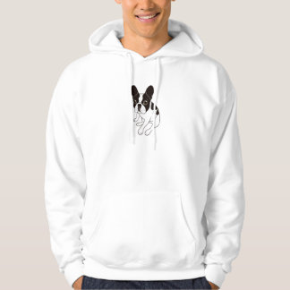 Cute double hooded pied Frenchie is chilling Hoodie